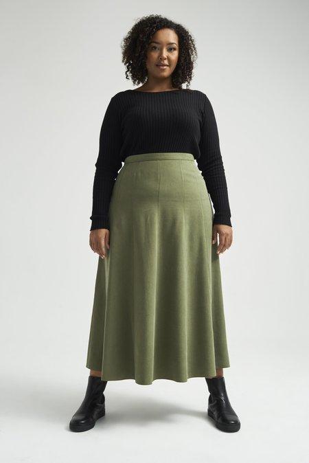 Lois Hazel Apollonia Skirt - Moss