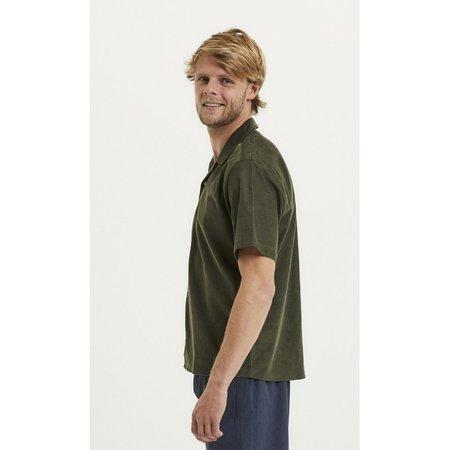 knowledge cotton apparel Wave cuban collar baby cord SS shirt - Green
