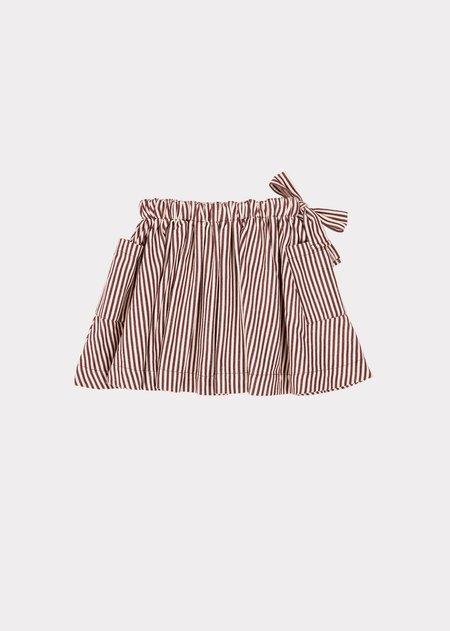 Kids Caramel Cormoran Skirt - Brown Stripe
