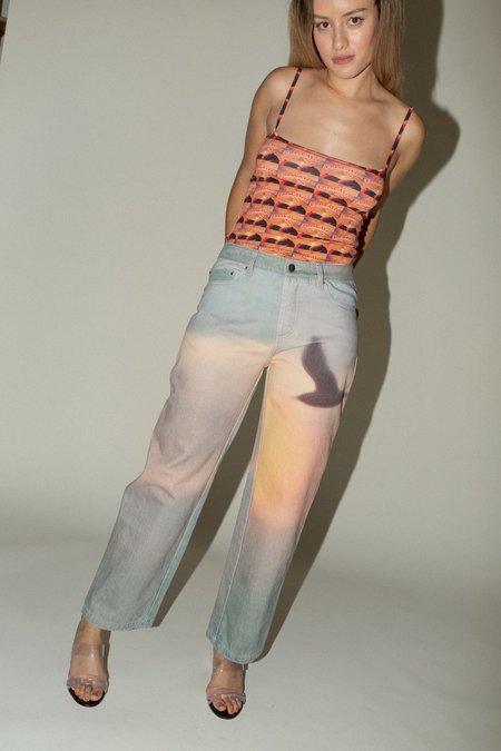 Priscavera Low Rise Printed Jeans - Sunrise