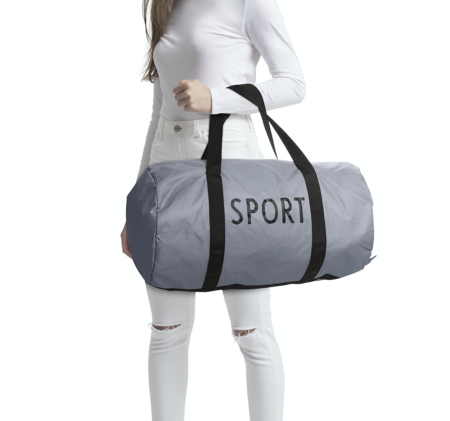 UNISEX Design Letters Large Sports Bag