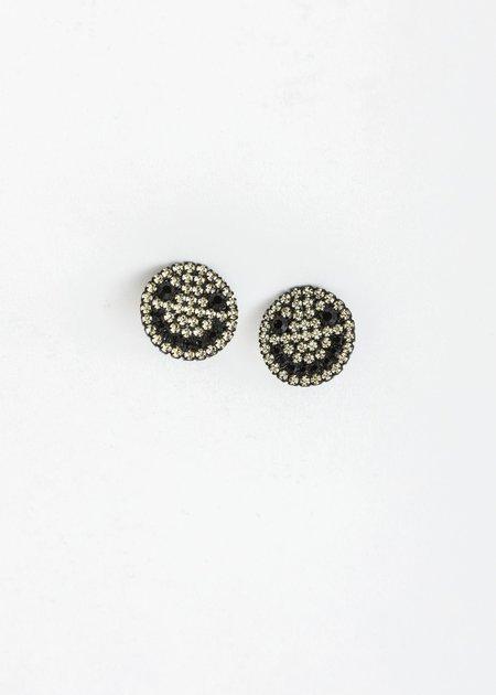 Ashley Williams Smiley Earring - BRASS/CZECH CRYSTAL