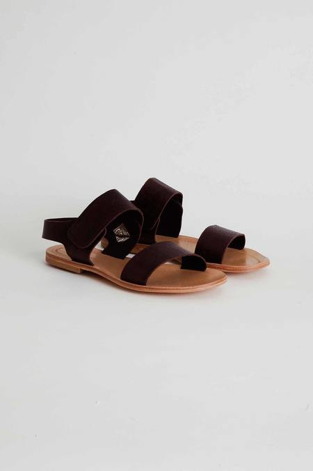 Mónica Cordera Ankle Strap Flat Sandals - Brown