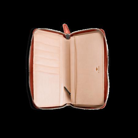 Il Bussetto Horizontal Zip Wallet - Dark Brown