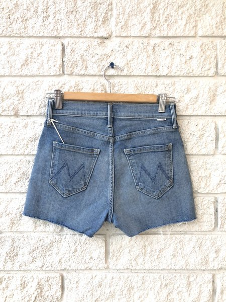 Mother Denim The Pixie Dazzler Short Fray Jeans - Blowing Kisses