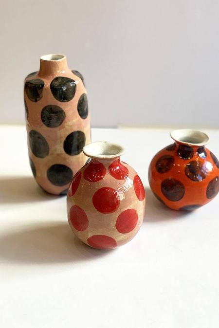 A.Cheng Tall Polka Dot Vase - Black