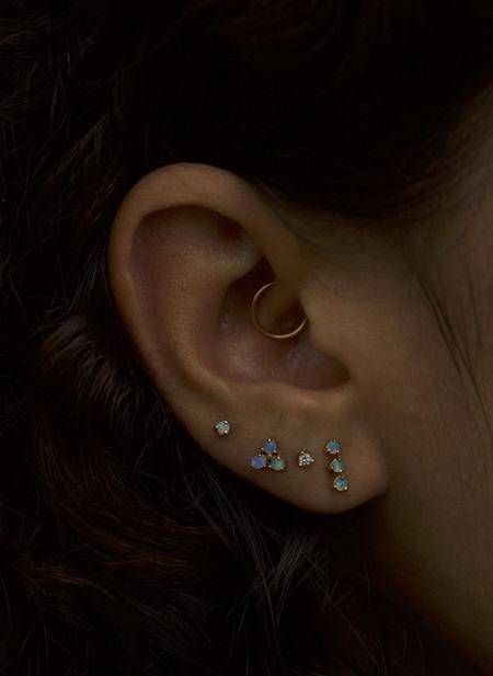 WWAKE Three-Step with Opals Earrings - Gold