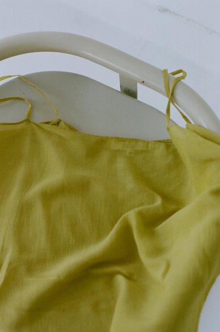 Vincetta Silk Tank - Yellow