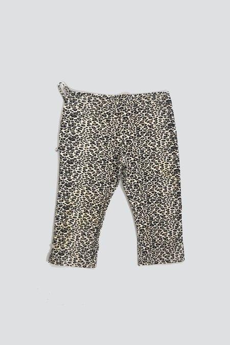 Vintage Cotton Side Tie Long Short - Leopard