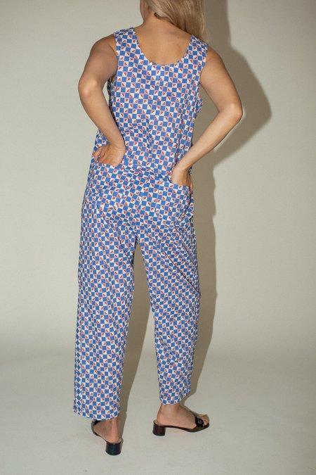 Caron Callahan Adele Jumpsuit - Feedsack Cotton Print