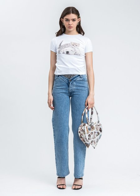 Ashley Williams Digital Kitten And Puppy T-Shirt - White