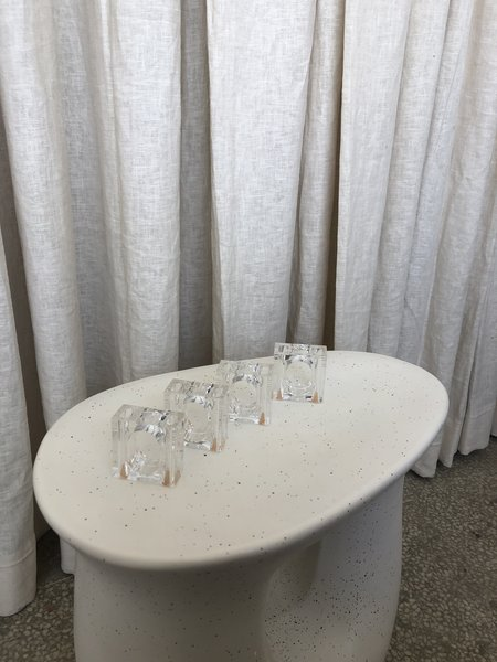 Vintage LUCITE S&P NAPKIN RINGS - Clear