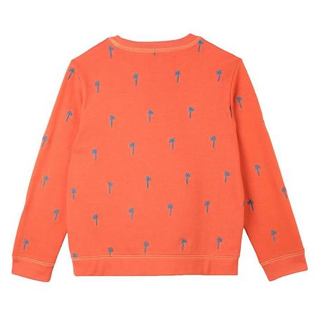 Kids Stella McCartney Sweatshirt With Embroidered Palm Trees - Orange