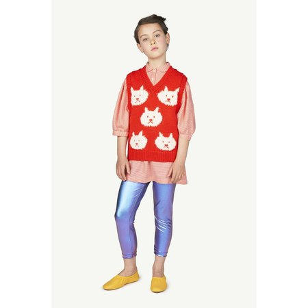 kids the animals observatory mouse dress - red vichy logo