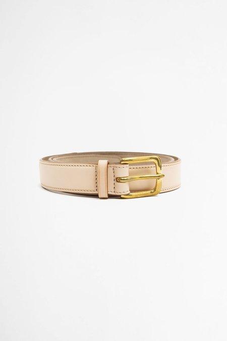 Del Barrio Leather Belt - Natural