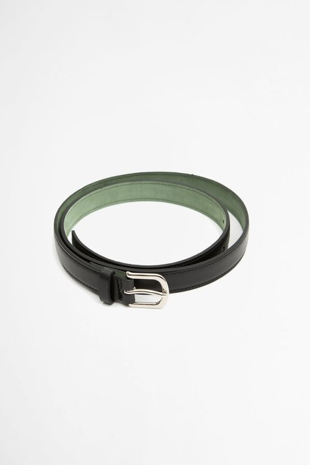 Del Barrio Slim Leather Belt - Black