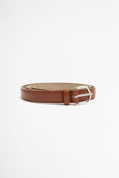 Del Barrio Slim Leather Belt - Brown
