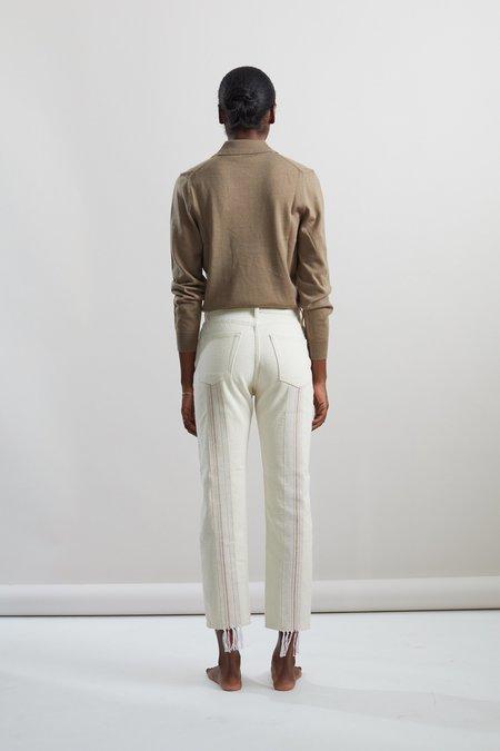 Still Here New York Turkish Towel tate jeans - Bone