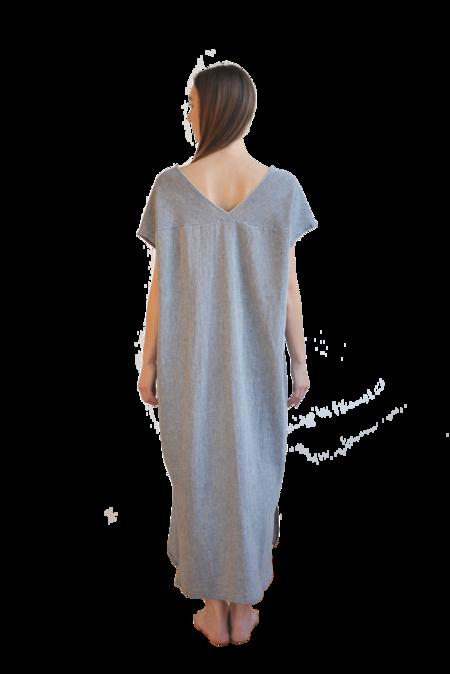 loom.ist Sile Cloth V-Neck Caftan Dress - Marine