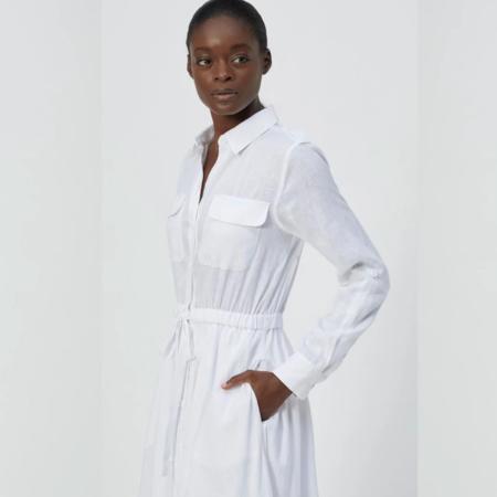 Equipment Jacquot Linen Dress - Bright White
