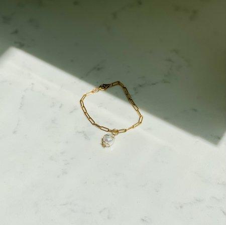 Cyntia Miglio Link Bracelet - Baroque Pearl