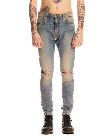 Represent Slim Fit Destroyer Jeans - Blue