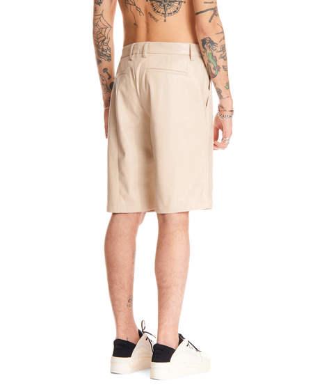 MISBHV Faux Leather Short Pants - Beige