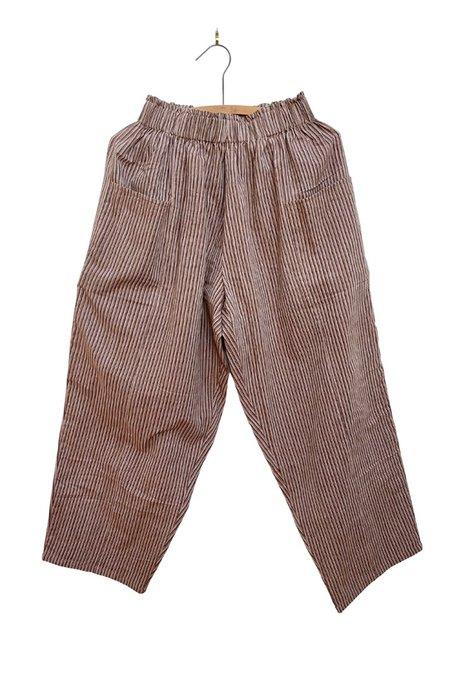 Umber & Ochre Front Pocket Pants - Taupe Stripe