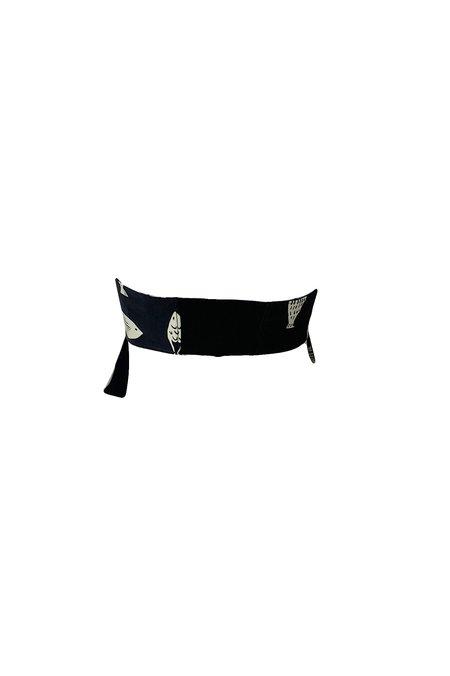 Tibi Poisson Print Strapless Tie Bralette - Grey Multi