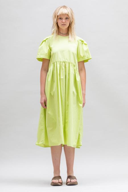 Toit Volant Spring Garden Dress - Starfruit Lime