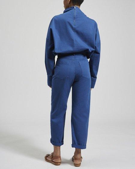 Rachel Comey MELODY TOP - Blue Chino Twill
