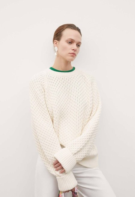 Kowtow Pioneer Crew Sweater - Chalk