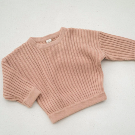 kids Illoura the Label Knit Jumper - Strawberry