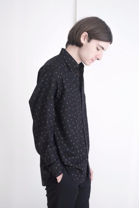 David Michael Collection Black Hallow Square Dress Shirt