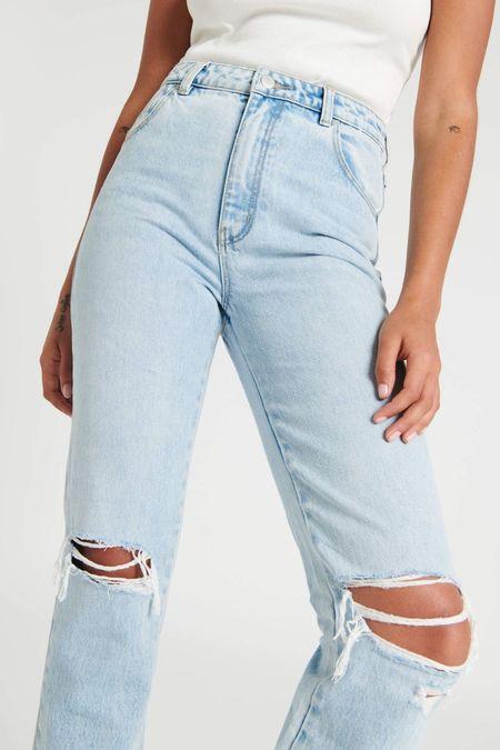 Rollas original straight jean - nina worn