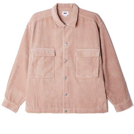 Obey Theo Chord Shirt Jacket - Gallnut