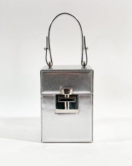 [Pre-loved] Oscar de la Renta The Mini Alibi Top Handle Bag - Silver