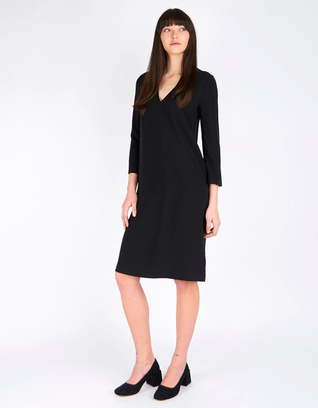 Filippa K Deep V-Neck Dress Black
