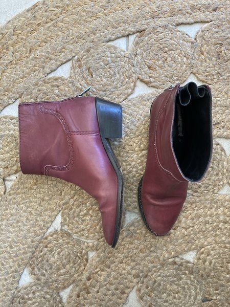 Pre-loved Zadig and Voltaire Ankle Boots - burgundy