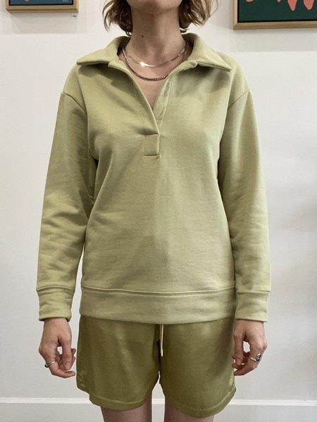 signe Dew Polo Sweatshirt - Willow Green