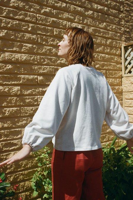 Mimi Holvast Scrunchie Raglan pullover - Marle Grey