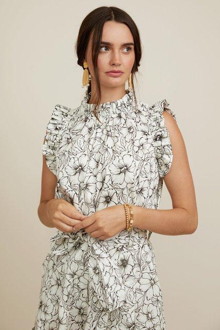 CHRISTY LYNN Aurelie Blouse - Etched Floral