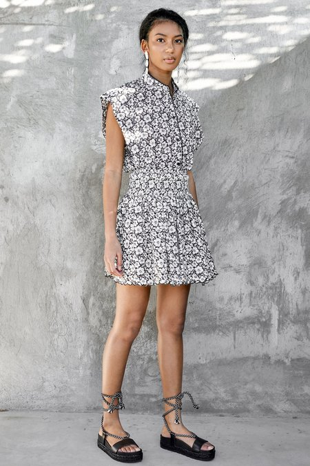 CHRISTY LYNN Ava Skirt - Black Posey Print