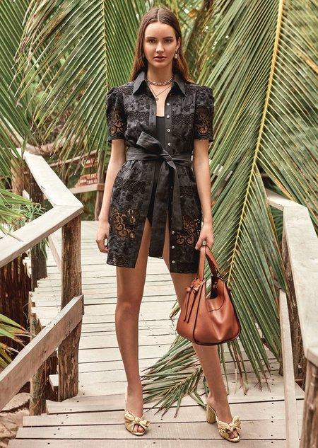 CHRISTY LYNN Valencia Dress - Black Floral