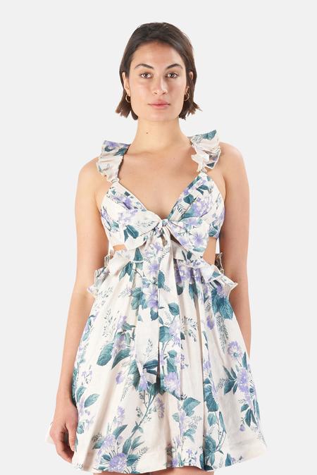 Zimmermann Cassia Ruffle Mini Dress - Hydrangea