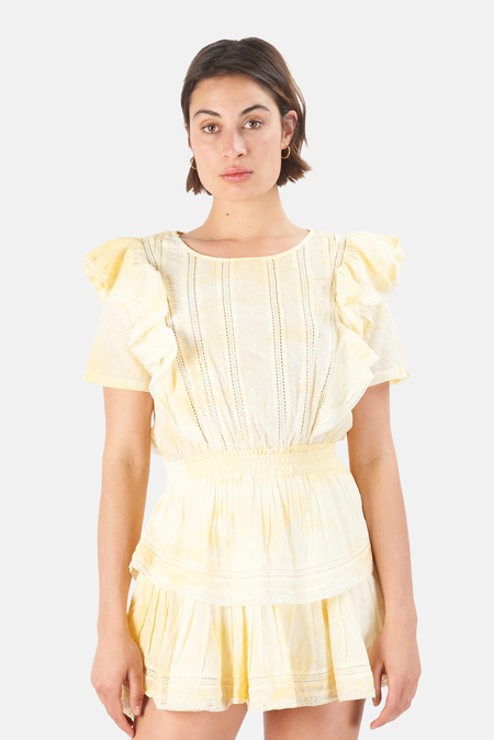 LoveShackFancy Natasha Dress - Lemon Drop Hand Dye