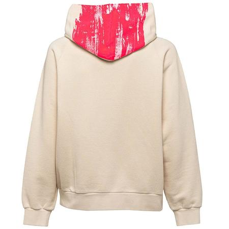 Marni Sweatshirt Hoodie - Beige/Red Stripe