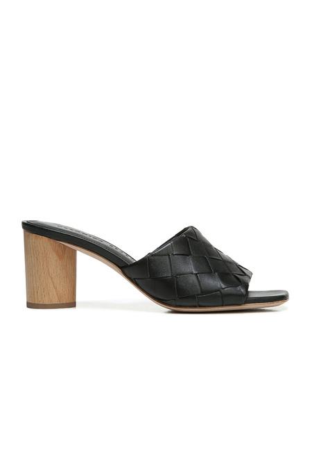 Veronica Beard Kiele Woven Napa Sandals - Black