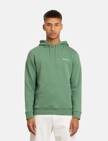 Norse Projects Vagn Logo Hoodie sweater - Green