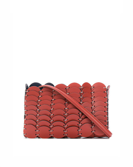 Paco Rabanne Leather Shoulder Bag - brown